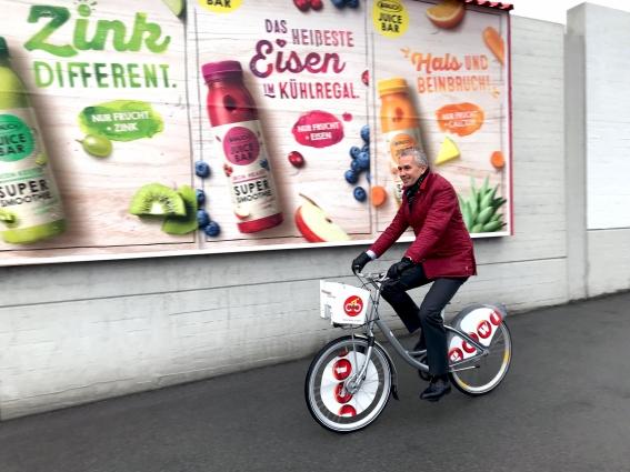 Gewista CEO Franz Solta am Citybike