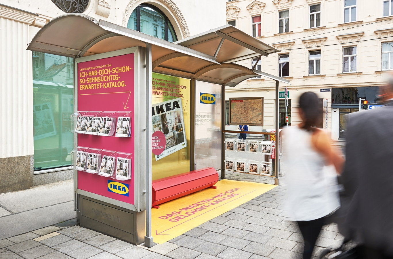 The new IKEA catalogue is here: At Gewista bus and tram