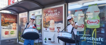 Innovative and Ambient Media Wartehalle Yakult-5