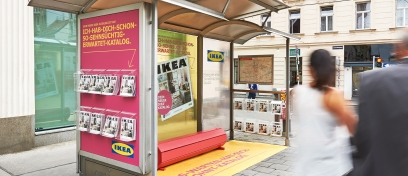Innovative and Ambient Media Wartehalle Ikea