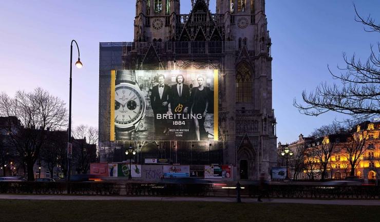 Großflächenwerbung Breitling Votivkirche