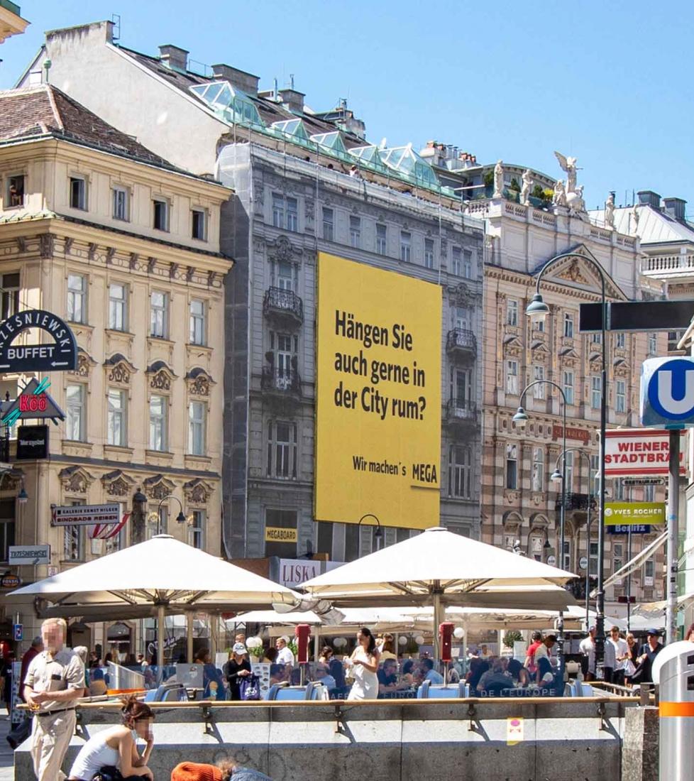 Wir machen's MEGA Eigenwerbung Graben Wien