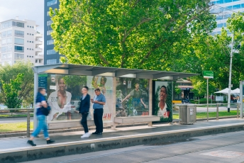 JCDecaux H&M Shelter Immersion Melbourne