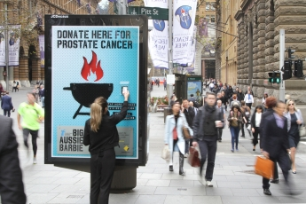 JCDecaux Prostate Cancer Awareness tap to donate