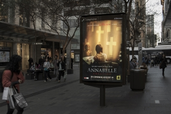 JCDecaux Annabelle Creation possessed panel