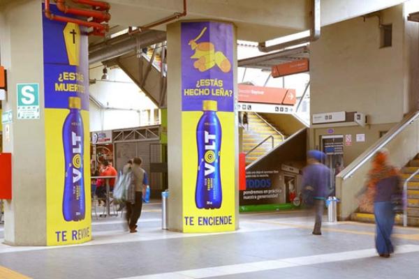 Volt publicidad metro jcdecaux