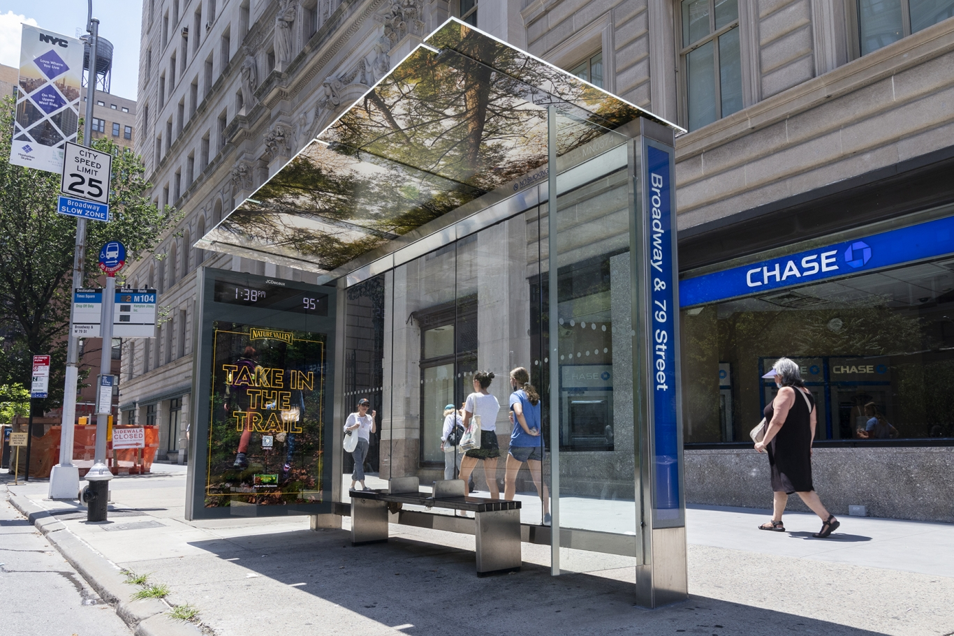 Bus Shelter innovate with nature valley creative and ceiling wrap